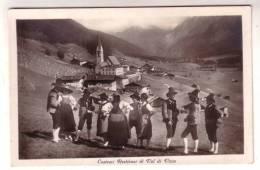 27SC63) COSTUMI RUSTICANI IN VAL DI VIZZE - FORMATO PICCOLO - Costumes