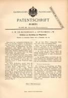 Original Patentschrift - C. Buschhaus In Gevelsberg I.W.,1891, Pflugschar - Herstellung , Pflug , Landwirtschaft , Agrar - Historical Documents
