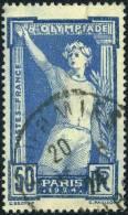 186  Jeux Olympiques De Paris 50c Oblitéré 335 1924 - France