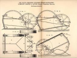 Original Patentschrift - Steam Cultivating Ltd. In Alton , Hampshire , 1891 , Shovel For Road , Bridges , Railway !!! - Tools