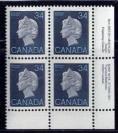 CANADA 1985, # 926, FIRST CLASS DEFINITIVES: 1985-1987 QUEEN ELIZBETH 11  M NH - Blocs-feuillets