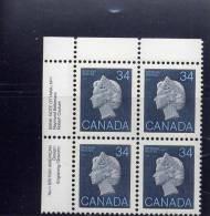 CANADA 1985, # 926, FIRST CLASS DEFINITIVES: 1985-1987 QUEEN ELIZBETH 11  M NH - Blocks & Sheetlets