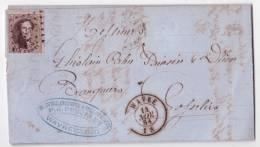Lettre Affr. N°14 Lpts De WAVRE/1864 Pour Gosselies - 1830-1849 (Belgique Indépendante)
