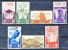 Libia 1933 - 7° Fiera Di Tripoli Serie 24 N. 118-124 Usati (alti Valori Firmati) Cat. € 1100 - Libye