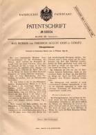 Original Patentschrift - M. Eichler Und F. John In Görlitz , 1892 , Flüssigkeitsmesser Für Uhr , Wanduhr , Uhrmacher !!! - Schmuck & Uhren