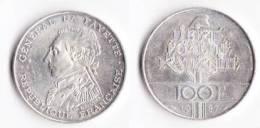 """SUPERBE---PIECE 100 FRANCS ARGENT 1987 """"La Fayette""""---ETAT : SUP//SPL - N. 100 Francs"""
