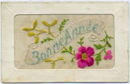 Belle Carte Brodée - Bonne Année - Brodées