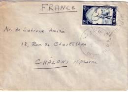 LIBAN - BEYROUTH LE 27-2-1956 LETTRE POUR LA FRANCE. - Liban