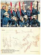 Operazione Dai Italia Campionati Mondiali Val Gardena.Cartolina Con Autografi Gustav Thoni O Gustavo Thoeni Ecc... - Personalità Sportive