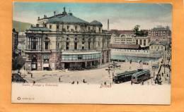 Bilbao Teatro Arriaga Y Estaciones Tram 1900 Postcard - Vizcaya (Bilbao)