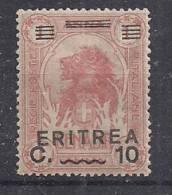 ERITREA 1922 SOPRASTAMPATI SASS. 56 MNH XF - Eritrea