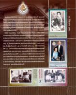 THAILAND - 2010 - Mi 2945-2948 - 150th ANNIVERSARY OF QUEEN SAVANG VADHANA (I) - S/S - MNH ** - Thailand