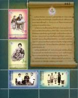 THAILAND - 2011 - Mi 3113-3116 - 150th ANNIVERSARY OF QUEEN SAVANG VADHANA (II) - S/S - MNH ** - Thailand