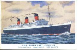 RMS QUEEN MARY By J NICHOLSON - Steamers