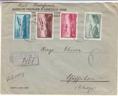 Avions - Roumanie - Lettre Recommandée De 1937 ° - Expédié Vers La Suisse - Oblitération Aradi Et Pfäfikon - 1918-1948 Ferdinand I., Charles II & Michel