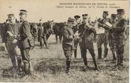 CPA MILITARIA Grandes Manoeuvres Du Centre 1908 - Officiers étrangers Envoyés En Mission (observateurs) Au Terrain De Ma - Manoeuvres