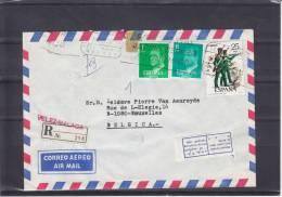 Soldats - Fusils - Espagne - Lettre Recommandée De 1978 - Oblitération Molenbeek - 1931-Aujourd'hui: II. République - ....Juan Carlos I