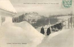 HAUTEVILLE HAUT DE L'EGLISE LE 1er FEVIER 1907 AIN 01 - Hauteville-Lompnes