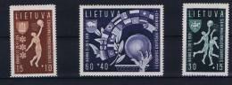 Lituania Michel Nr 429 - 431  , MNH / ** 1939, Perforated, Basketball