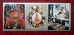 English Silver Plate 16th-17th Centuries - The Armoury (Oruzheynaya Palata)- Moscow -  Russia - USSR - 1978 - Unused - Russie