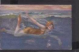 C18  /  Frauen  Bademode Maillots De Bain Baigneuses Mode Um 1915 / Kunst AK - Mujeres