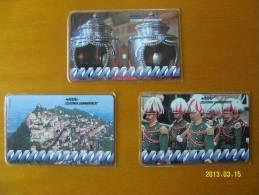 SCHEDE TELEFONICHE NUOVE N. 1 2 E 3 - San Marino