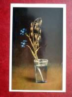 Jewels - Spray Of Cornflowers - Fabergé - The Hermitage - Leningrad -  Russia - USSR - 1982- Unused - Russie
