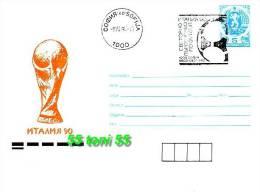 BULGARIA / Bulgarie 1990 FOOTBALL - W.Cup ITALIA P.Stationery   + Sp.first Day - 1990 – Italia