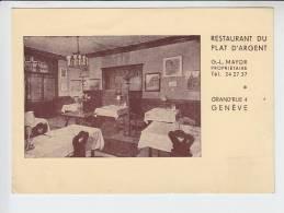 REF24.024  SUISSE. GENEVE.RESTAURANT DU PLAT D´ARGENT.GRAND´RUE - GE Geneva