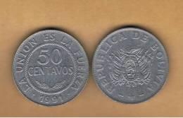 BOLIVIA - 50 Centavos 1991  Circulada   KM204 - Bolivia