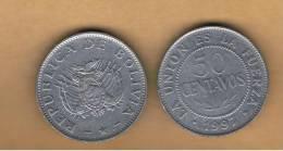 BOLIVIA - 50 Centavos 1997  Circulada   KM204 - Bolivia
