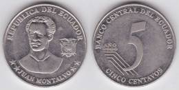 ECUADOR  5  CENTAVOS 2.000  Acero  KM#105   SC/UNC    T-DL-10.189 - Ecuador