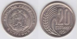 Bulgaria 20 Stotinki 1.954 Cu Ni KM#55 SC/UNC       T-DL-10.259 - Bulgaria