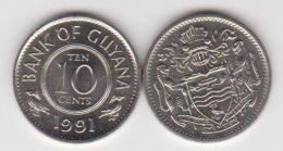Guyana 10 Céntimos 1.991 Cu Ni KM#33 SC/UNC     T-DL-10.284 - Monedas
