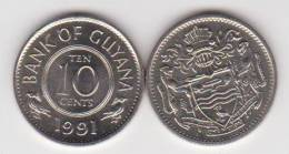 Guyana 10 Céntimos 1.991 Cu Ni KM#33 SC/UNC     T-DL-10.284 - Otros – Africa