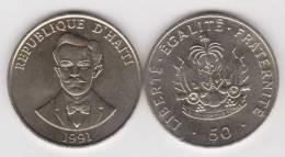 HAITI   50  CENTIMOS  1.991  NIQUEL-ACERO   KM#153    SC/UNC    DL-10.199 - Haïti
