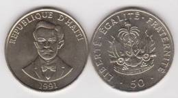 HAITI   50  CENTIMOS  1.991  NIQUEL-ACERO   KM#153    SC/UNC    DL-10.199 - Haití