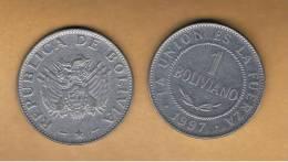 BOLIVIA - 1 Boliviano 1997 Circulada  KM205 - Bolivia