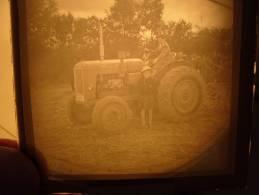 Photo Plaque De Verre Tracteur Ancien Someca - Plaques De Verre