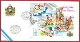 San Marino 1992 - FDC Azienda Autonoma Di Stato Olimpiadi Di Barcellona - FDC