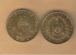 DJIBOUTI - 20 Francs 1996 SC  KM24 - Djibouti