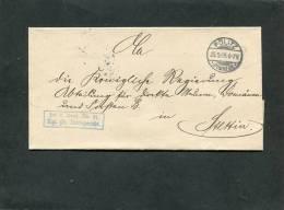 Deutsches Reich Brief 1905 Pölitz - Used Stamps