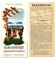 Guide Touristique Dde KLAGENFURT (Autriche) Des Années 60 - Guides Touristiques