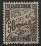 FRANCIA 1881/92 - Yvert #20 (Taxas) - VFU - 1876-1898 Sage (Type II)