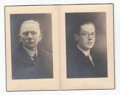 Dubbel Doodsprentje Van Zoon En Vader Frans SMETS Aarschot 1909 Leuven 1937 & Alfons SMETS Rillaar 1866 Leuven 1937 Foto - Andachtsbilder