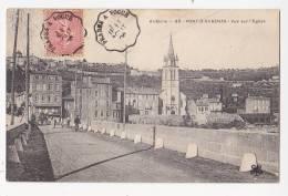 Cpa PONT D AUBENAS Pvue Sur L'église - 93 - Autres Communes