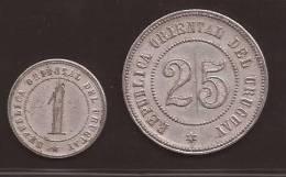 FICHA DE PAGO - From URUGUAYAN  FARMS -  ESTABLISHMENT OF ANIMAL HUSBANDRY - 2 COINS -  C/1880´s - Monétaires / De Nécessité