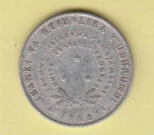 Pièce - Banque De La République Du Burundi - 5 Francs - 1968 - Burundi