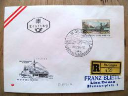 Cover Sent In Austria Osterreich 1964 Ersttag Fdc Wipa Tag Der Breifmarke Bus Transport Registered St.gilden - 1945-.... 2nd Republic