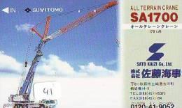 Télécarte Japon * CRANE * Phonecard * JAPAN (41) AUTO * CAR * VOITURE * TRUCK * TELEFONKARTE * HIJSKRAAN - Auto's